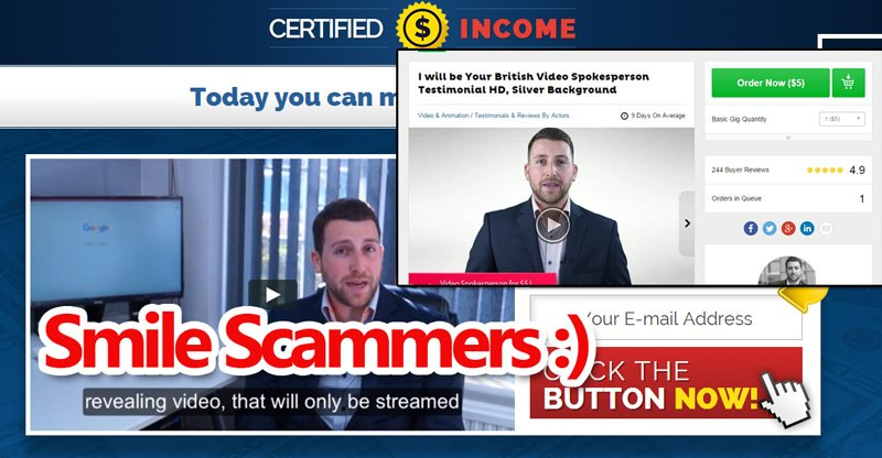 Certified Income Scammer