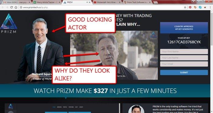 PRIZM Tech Scam Actors