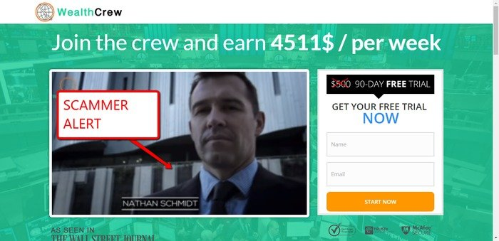 Wealth Crew Scam