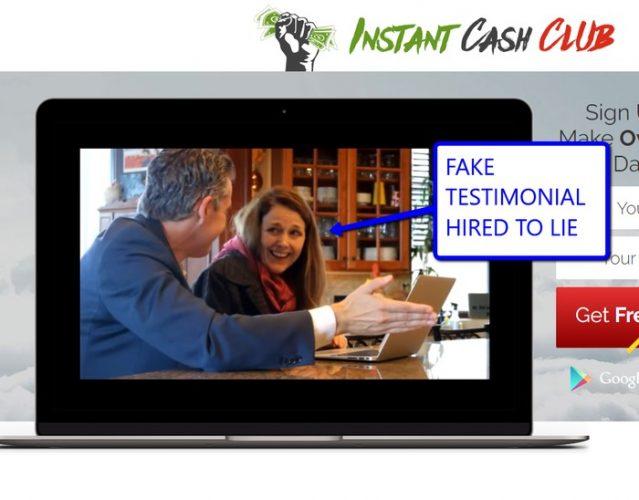 Instant Cash Club Scam