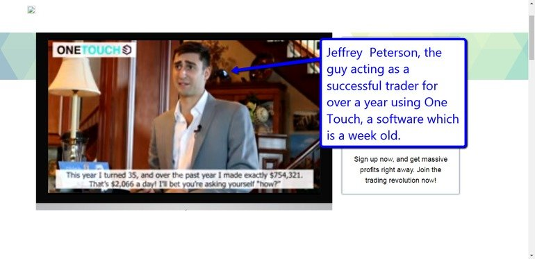 Jeffrey Peterson One Touch Trade