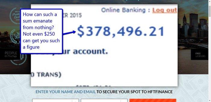 HFT Finance Scam