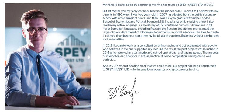 Daniil Solopov Spey Invest Ltd