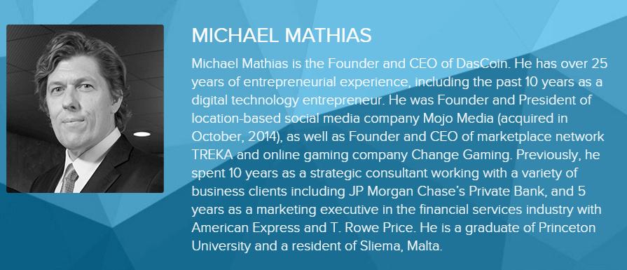 MIchael Mathias Dascoin CEO